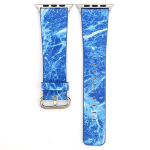 Apple Watch Marble Band WatchBand Stand Blue 38mm