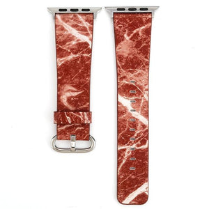 Apple Watch Marble Band WatchBand Stand Red 38mm