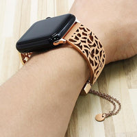 Apple Watch Carved Steel Watchband Bangle Jewelry Watchband Stand