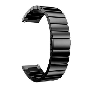 Samsung Gear Metal Link Band WatchBand Stand Black 20mm or S2 Classic