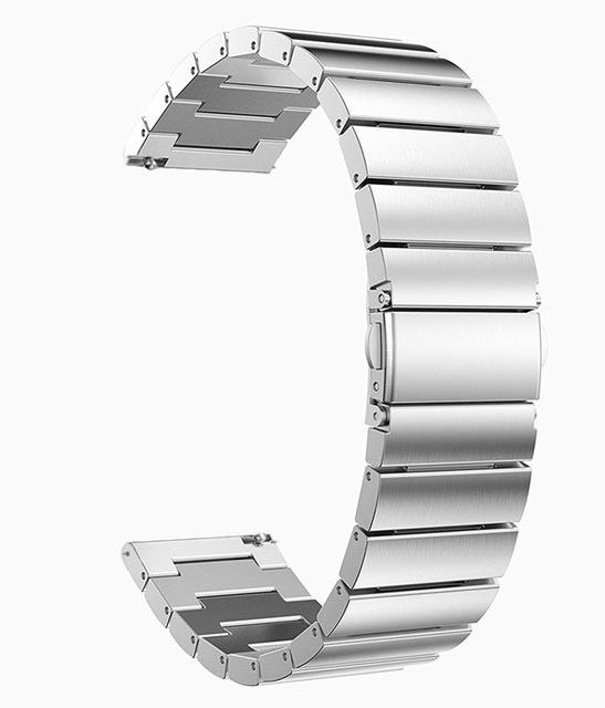 Samsung Gear Metal Link Band WatchBand Stand Silver 20mm or S2 Classic