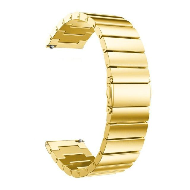 Samsung Gear Metal Link Band WatchBand Stand Gold 20mm or S2 Classic