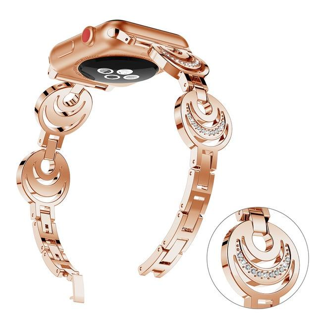 Apple Watch Sun Moon Stars Band Watchband Stand rose gold 38mm