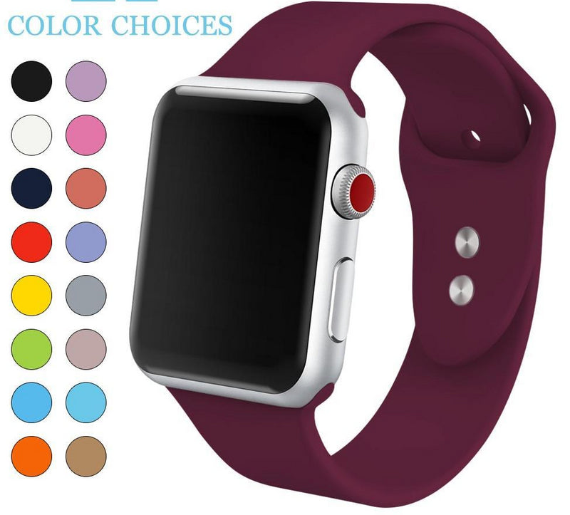Apple Watch Silicone Sports Band Watchband Stand