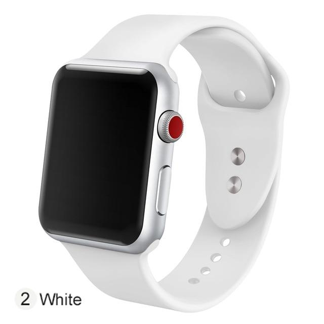 Apple Watch Silicone Sports Band Watchband Stand White 38MM SM