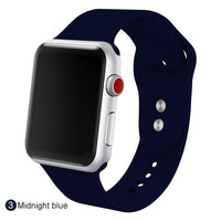 Apple Watch Silicone Sports Band Watchband Stand Midnight blue 38MM SM
