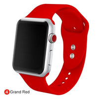 Apple Watch Silicone Sports Band Watchband Stand Grand Red 38MM SM