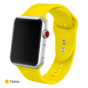 Apple Watch Silicone Sports Band Watchband Stand Yellow 38MM SM
