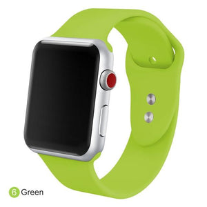 Apple Watch Silicone Sports Band Watchband Stand Green 38MM SM