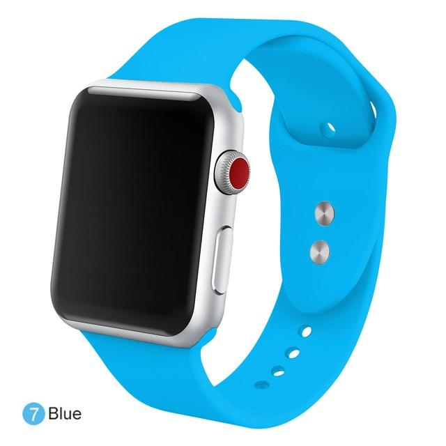 Apple Watch Silicone Sports Band Watchband Stand Blue 38MM SM