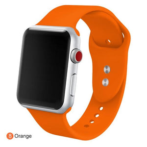 Apple Watch Silicone Sports Band Watchband Stand Orange 38MM SM