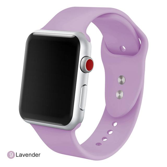 Apple Watch Silicone Sports Band Watchband Stand Lavender 38MM SM