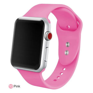 Apple Watch Silicone Sports Band Watchband Stand Pink 38MM SM