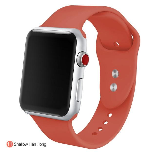 Apple Watch Silicone Sports Band Watchband Stand Shallow HanHong 38MM SM