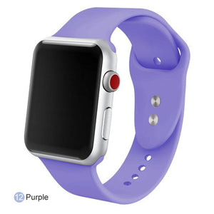 Apple Watch Silicone Sports Band Watchband Stand Pirple 38MM SM