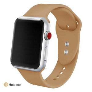 Apple Watch Silicone Sports Band Watchband Stand Hutaose 38MM SM