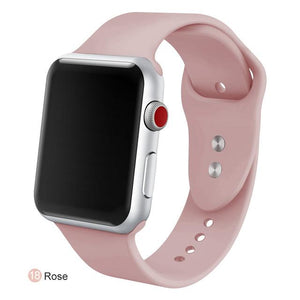 Apple Watch Silicone Sports Band Watchband Stand Rose 38MM SM