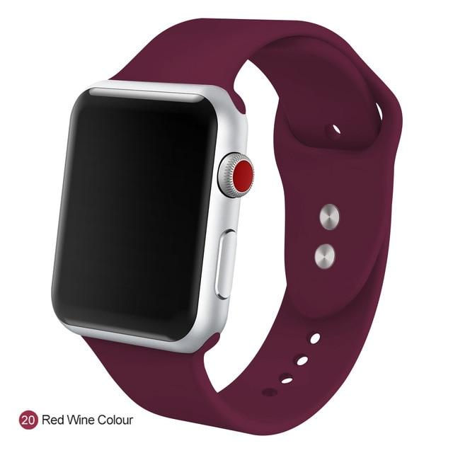 Apple Watch Silicone Sports Band Watchband Stand Red Wine Colour 38MM SM