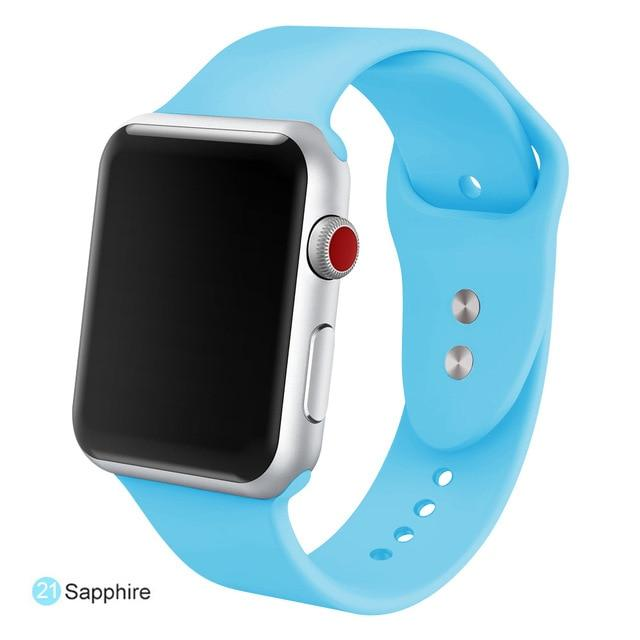 Apple Watch Silicone Sports Band Watchband Stand Sapphire 38MM SM