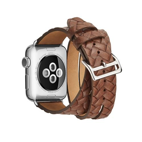 Apple Watch Leather Woven Braid Band WatchBand Stand