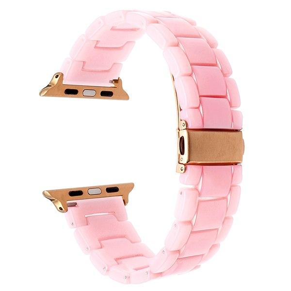 Apple Watch Resin-ator Band Watchband Stand Pink RG 38mm