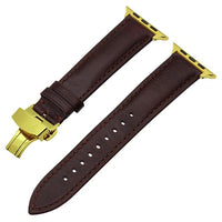 Apple Watch Italian Calf Leather Racer Band Watchband Stand Dark Brown G 38mm