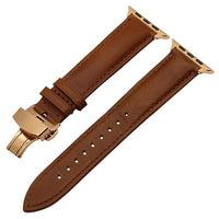 Apple Watch Italian Calf Leather Racer Band Watchband Stand Light Brown RG 38mm