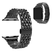Apple Watch Stainless Steel Crystal Strap WatchBandStand Black