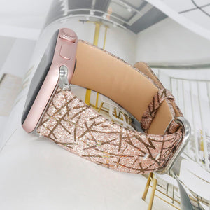 Apple Watch Bling Glitter Leather Strap WatchBandStand