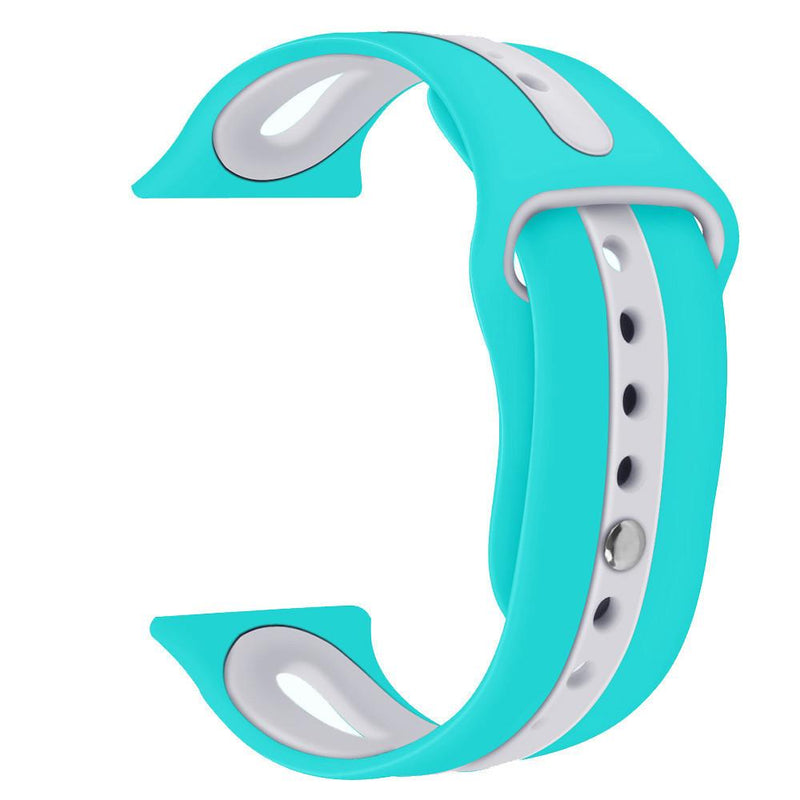 Apple Watch Silicone Bracelet Watch WatchBandStand Aqua