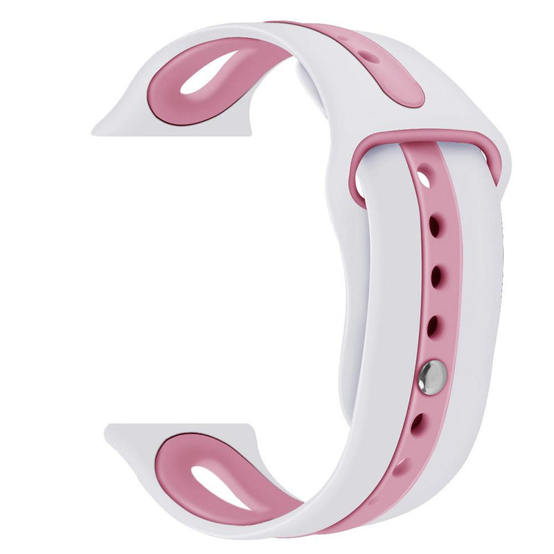 Apple Watch Silicone Bracelet Watch WatchBandStand White Pink