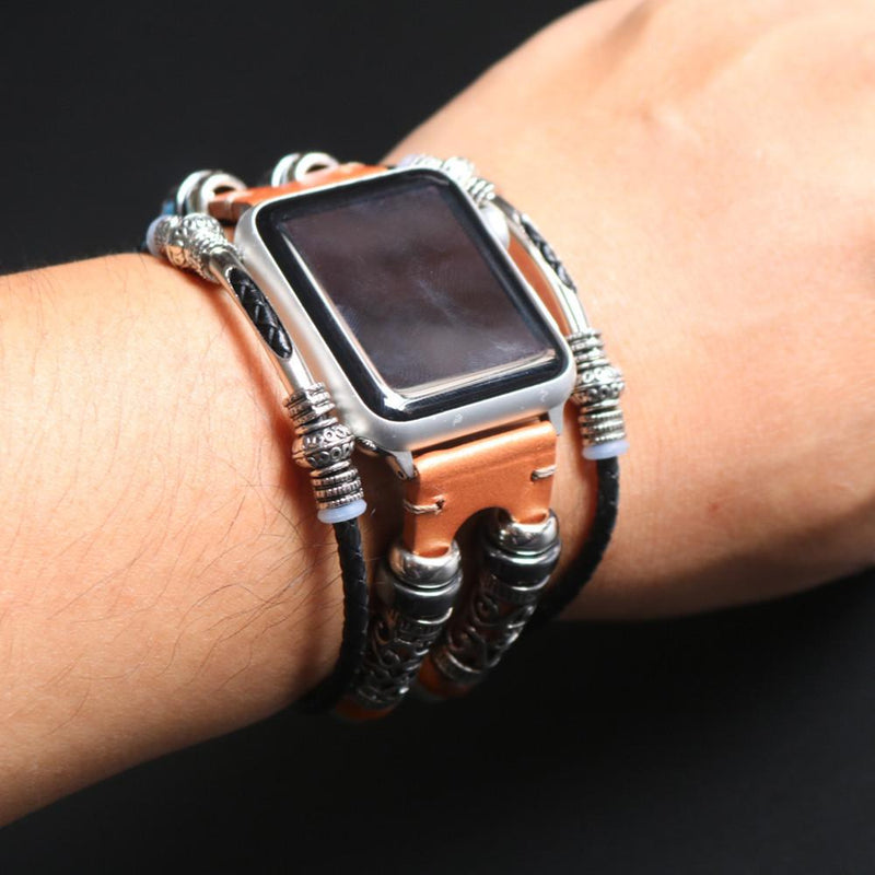 Apple Watch Decorative Leather Wristband WatchBandStand