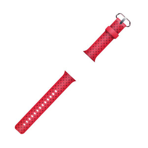 Apple Watch Soft Weave Silicone Sport Band WatchBandStand Red