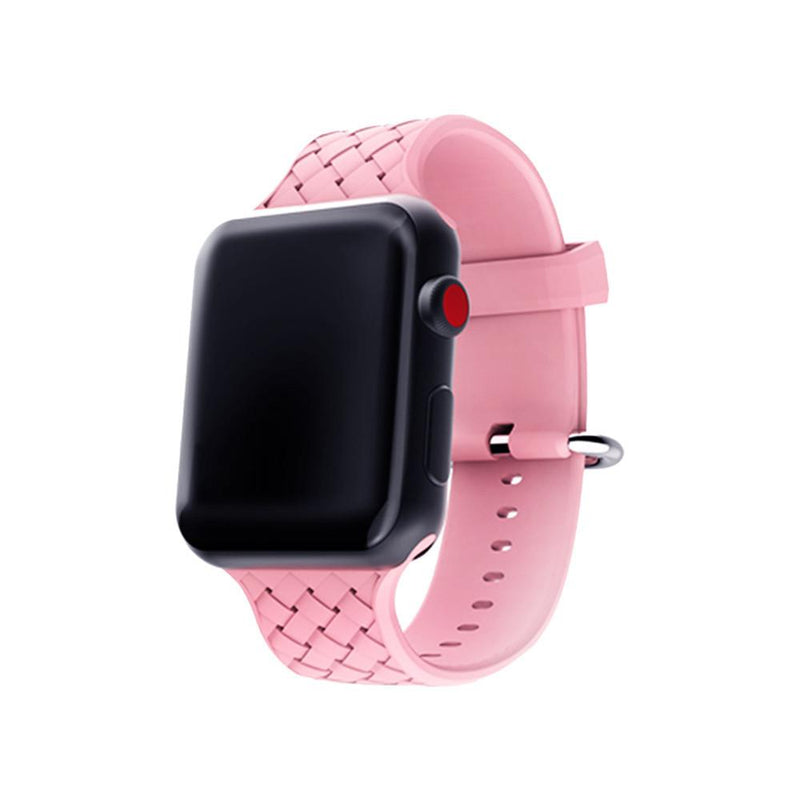 Apple Watch Soft Weave Silicone Sport Band WatchBandStand Pink