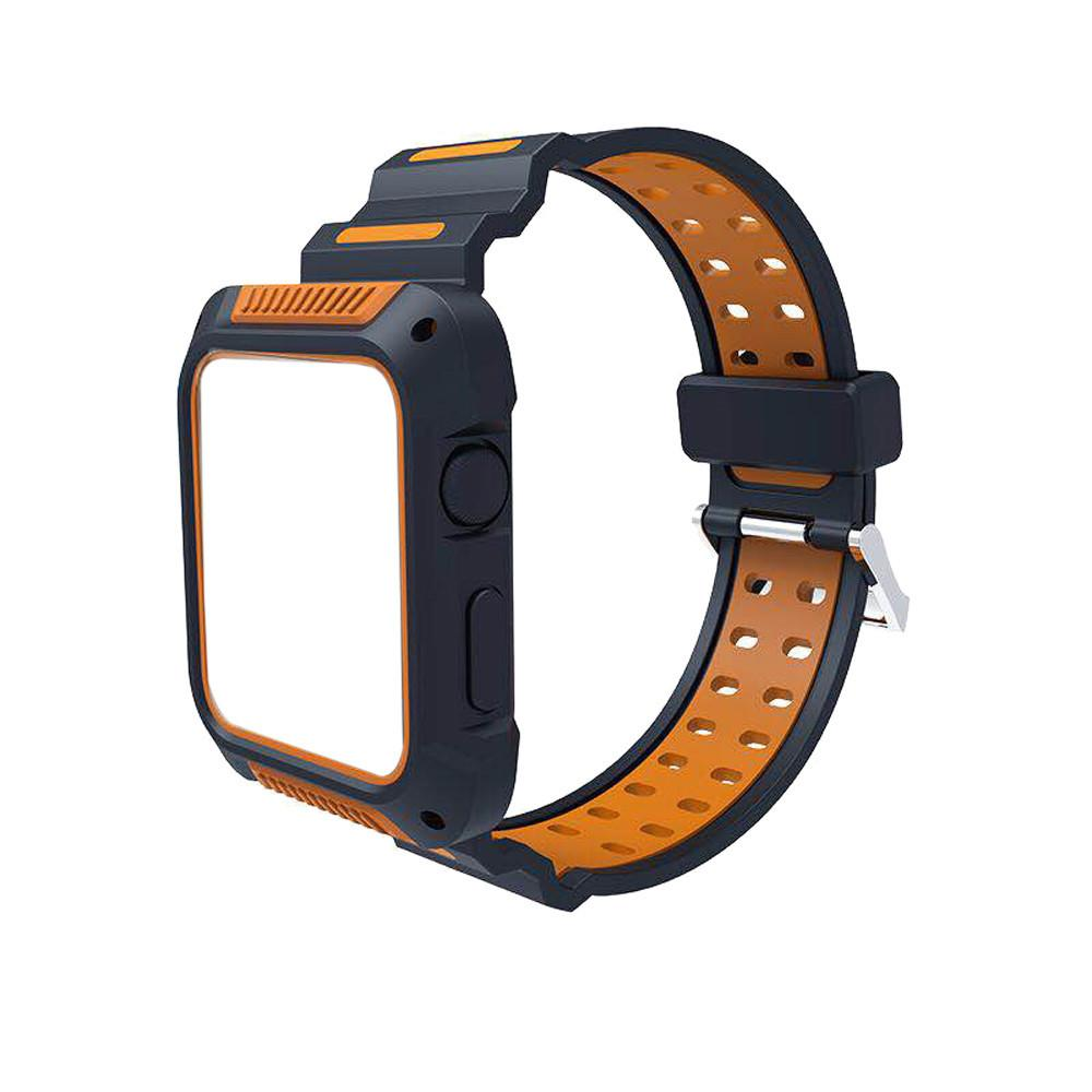 Apple Watch Silicone Sports Bands WatchBandStand Orange