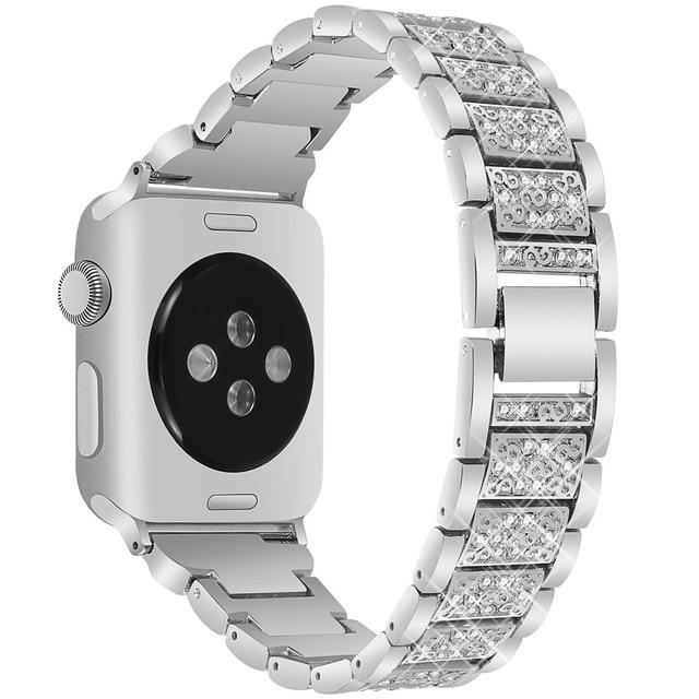 Apple Watch Diamond Strip Band Watchband Stand silver 38mm