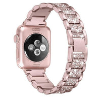 Apple Watch Diamond Strip Band Watchband Stand rose-pink 38mm