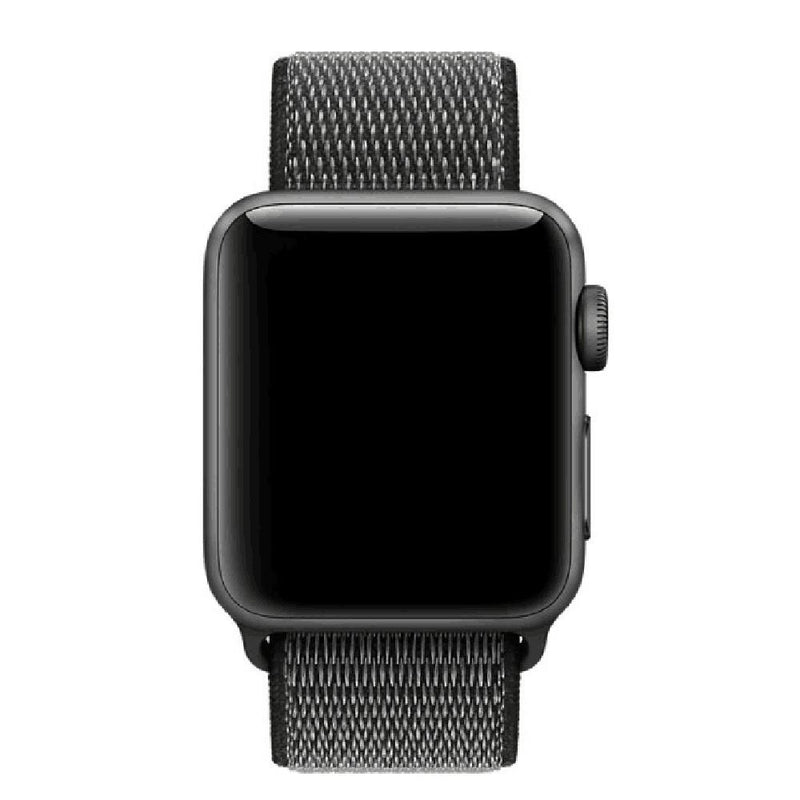 Apple Watch Nylon Woven Sport Loop WatchBandStand Black 42mm