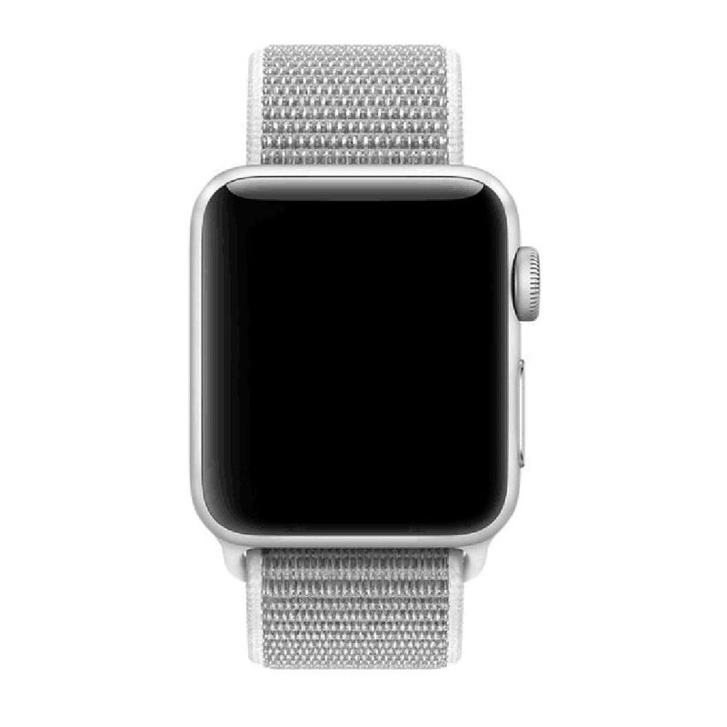 Apple Watch Nylon Woven Sport Loop WatchBandStand White 38mm
