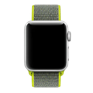 Apple Watch Nylon Woven Sport Loop WatchBandStand Yellow 38mm