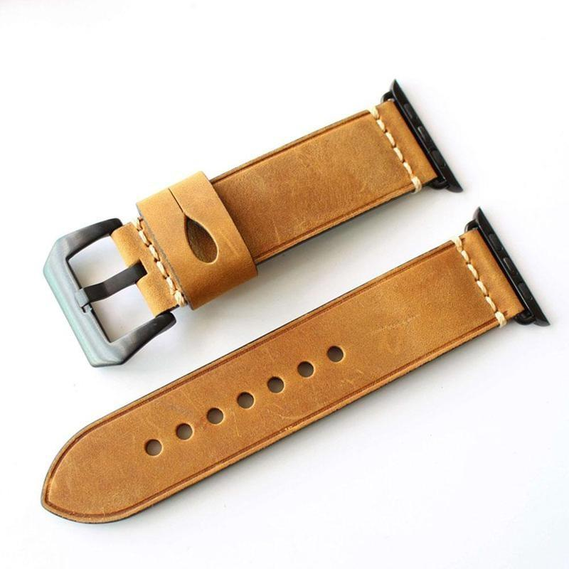 Apple Watch Soft Leather Band WatchBandStand Tan 38 mm