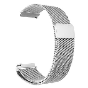 Samsung Gear Milanese Band WatchBand Stand Silver 20mm or S2 classic