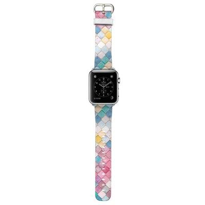 Apple Watch Rainbow Kaleidoscope Tile Band Watchband Stand Rainbow 22mm