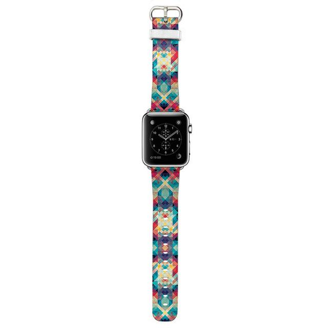 Apple Watch Rainbow Kaleidoscope Tile Band Watchband Stand kaleidoscope 22mm