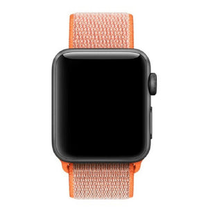 Apple Watch Nylon Woven Sport Loop WatchBandStand Orange 38mm