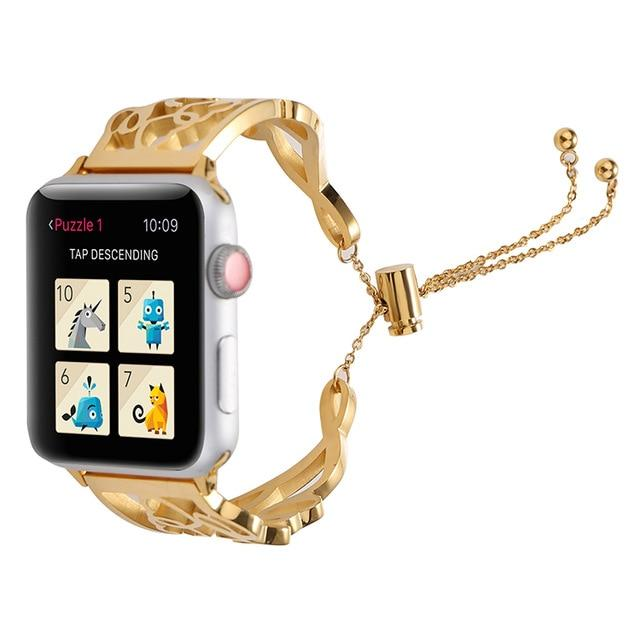 Apple Watch Dain-T Gold Band Jewelry Watchband Stand Gold 38mm