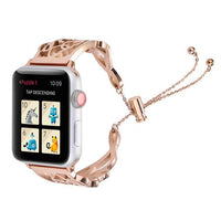 Apple Watch Dain-T Gold Band Jewelry Watchband Stand Rose pink 38mm