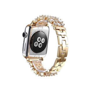 Apple Watch Rhinestone Band Watchband Stand Gold for Apple Watch 38mm