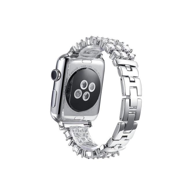 Apple Watch Rhinestone Band Watchband Stand Silver for Apple Watch 38mm