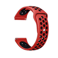 Samsung Gear Perforated Silicone WatchBand Stand red black 20mm or S2 Classic